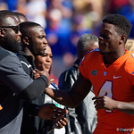 University of Florida Gators wide receiver Brandon Powell and family during senior day festivities in which the Gators lost 38-22 to the Florida State Seminoles at  Ben Hill Griffin Stadium in Gainesville, Florida. November 25th, 2017.  Gator Country photo by David Bowie.