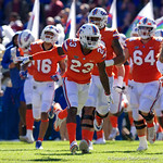 University of Florida Gators defensive back Chauncey Gardner, Jr. runs onto the field during pre-game in which the Gators lost 38-22 to the Florida State Seminoles at  Ben Hill Griffin Stadium in Gainesville, Florida. November 25th, 2017.  Gator Country photo by David Bowie.