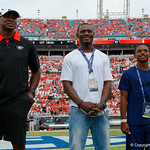 Former Florida Gators defensive back Lito Sheppard is inducted into the Floria-Georgia Hall of Fame during pre=game as the Gators lose to 42-7 to the Georgia Bulldogs at EverBank Field in Jacksonville, Florida.  October 28th, 2017.  Gator Country photo by David Bowie.