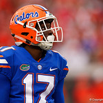 University of Florida Gators athlete Kadarius Toney during the second half as the Gators lose to 42-7 to the Georgia Bulldogs at EverBank Field in Jacksonville, Florida.  October 28th, 2017.  Gator Country photo by David Bowie.