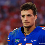 University of Florida Gators quarterback Feleipe Franks during post-game as the Gators lose to 42-7 to the Georgia Bulldogs at EverBank Field in Jacksonville, Florida.  October 28th, 2017.  Gator Country photo by David Bowie.