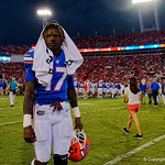 University of Florida Gators athlete Kadarius Toney during post-game as the Gators lose to 42-7 to the Georgia Bulldogs at EverBank Field in Jacksonville, Florida.  October 28th, 2017.  Gator Country photo by David Bowie.
