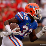 University of Florida Gators running back Adarius Lemons sprints upfield on a kick return during the second half as the Gators lose to 42-7 to the Georgia Bulldogs at EverBank Field in Jacksonville, Florida.  October 28th, 2017.  Gator Country photo by David Bowie.