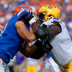 University of Florida Gators defensive lineman Jordan Sherit during the first half as the Florida Gators lose on homecoming to the  LSU Tigers 17-16 at Ben Hill Griffin Stadium in Gainesville, Florida. October 7th, 2017.  Gator Country photo by David Bowie.