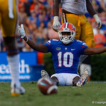 University of Florida Gators wide receiver Josh Hammond wants a pass interference called during the second half as the Florida Gators lose on homecoming to the  LSU Tigers 17-16 at Ben Hill Griffin Stadium in Gainesville, Florida. October 7th, 2017.  Gator Country photo by David Bowie.
