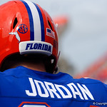 University of Florida Gators offensive lineman Tyler Jordan during pregame as the Florida Gators lose on homecoming to the  LSU Tigers 17-16 at Ben Hill Griffin Stadium in Gainesville, Florida. October 7th, 2017.  Gator Country photo by David Bowie.