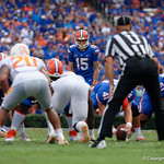 University of Florida Gators kicker Eddy Pineiro lines up for his second field goal to put the Gators up 6-0 during the first half as the Florida Gators defeat tne Tennessee Volunteers 26-20 at Ben Hill Griffin Stadium in Gainesville, Florida. September 16th, 2017.  Gator Country photo by David Bowie.