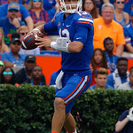 University of Florida Gators quarterback Feleipe Franks throwing during the first half as the Florida Gators defeat tne Tennessee Volunteers 26-20 at Ben Hill Griffin Stadium in Gainesville, Florida. September 16th, 2017.  Gator Country photo by David Bowie.