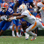 University of Florida Gators running back Malik Davis rushing during the first half as the Florida Gators defeat tne Tennessee Volunteers 26-20 at Ben Hill Griffin Stadium in Gainesville, Florida. September 16th, 2017.  Gator Country photo by David Bowie.
