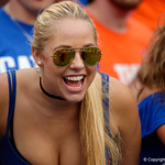 during the second half as the Florida Gators defeat tne Tennessee Volunteers 26-20 at Ben Hill Griffin Stadium in Gainesville, Florida. September 16th, 2017.  Gator Country photo by David Bowie.