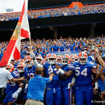 University of Florida Gators defensive back Chauncey Gardner, Jr. and the Gators take the field the Florida Gators defeat tne Tennessee Volunteers 26-20 at Ben Hill Griffin Stadium in Gainesville, Florida. September 16th, 2017.  Gator Country photo by David Bowie.