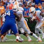 Tennessee Volunteers running back John Kelly rushing during the first half as the Florida Gators defeat tne Tennessee Volunteers 26-20 at Ben Hill Griffin Stadium in Gainesville, Florida. September 16th, 2017.  Gator Country photo by David Bowie.