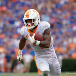 Tennessee Volunteers running back John Kelly rushing during the second half as the Florida Gators defeat tne Tennessee Volunteers 26-20 at Ben Hill Griffin Stadium in Gainesville, Florida. September 16th, 2017.  Gator Country photo by David Bowie.