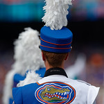 The University of Florida Band takes the field during pregame as the Florida Gators defeat tne Tennessee Volunteers 26-20 at Ben Hill Griffin Stadium in Gainesville, Florida. September 16th, 2017.  Gator Country photo by David Bowie.