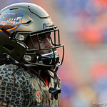University of Florida Gators defensive back Shawn Davis during pregame as the Florida Gators drop to 3-3 on the season with a loss to tne Texas A&M Aggies 19-17 at Ben Hill Griffin Stadium in Gainesville, Florida. October 14th, 2017.  Gator Country photo by David Bowie.