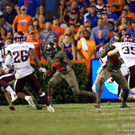 University of Florida Gators running back Adarius Lemons on a kick return during the second haf as the Florida Gators drop to 3-3 on the season with a loss to tne Texas A&M Aggies 19-17 at Ben Hill Griffin Stadium in Gainesville, Florida. October 14th, 2017.  Gator Country photo by David Bowie.