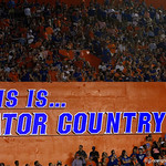 Gator Country sign during the first haf as the Florida Gators drop to 3-3 on the season with a loss to tne Texas A&M Aggies 19-17 at Ben Hill Griffin Stadium in Gainesville, Florida. October 14th, 2017.  Gator Country photo by David Bowie.