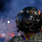 University of Florida Gators defensive back Chauncey Gardner, Jr. during pregame as the Florida Gators drop to 3-3 on the season with a loss to tne Texas A&M Aggies 19-17 at Ben Hill Griffin Stadium in Gainesville, Florida. October 14th, 2017.  Gator Country photo by David Bowie.