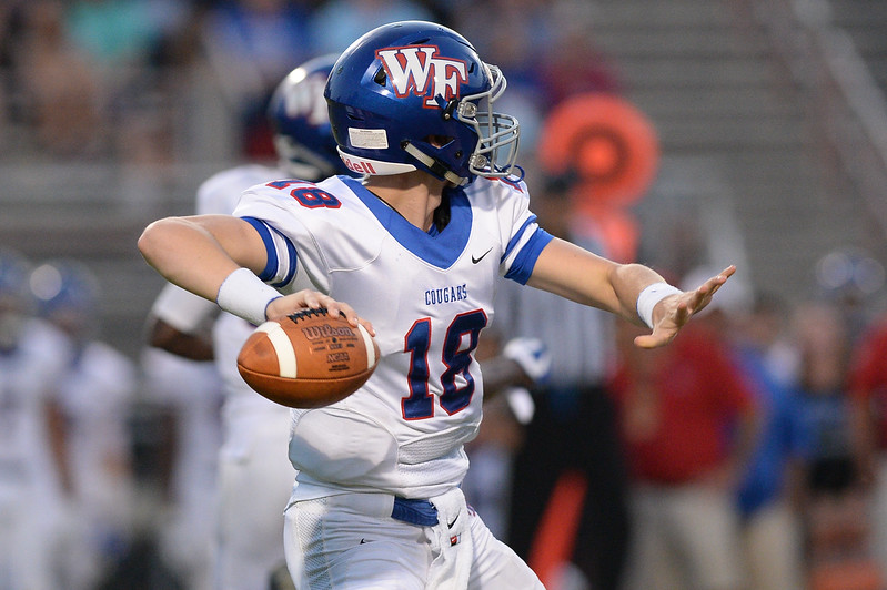 Wake Forest Chris James (18) during tonights game.Wake Forest defeats Southern Nash 35-0, Friday evening September 15, 2017 (Photos by Anthony Barham / WRAL contributor.)