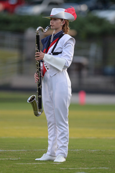 Southern Nash marching band member during tonights game.Wake Forest defeats Southern Nash 35-0, Friday evening September 15, 2017 (Photos by Anthony Barham / WRAL contributor.)