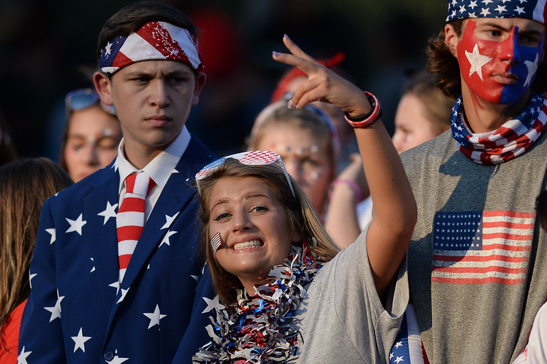 Southern Nash students during tonights game.Wake Forest defeats Southern Nash 35-0, Friday evening September 15, 2017 (Photos by Anthony Barham / WRAL contributor.)