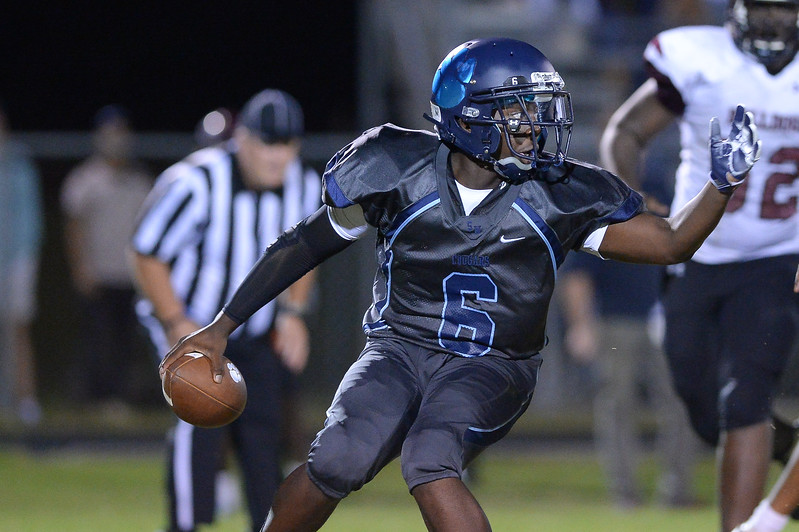 Southwest Edgecombe Tre Williams (6) during tonight's game.Southwest Edgecombe defeats Nash Central 24-14, Friday evening October 13, 2017 (Photos by Anthony Barham / WRAL contributor.)