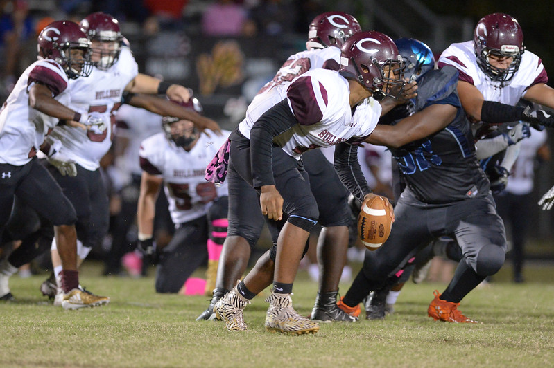 Nash Central during tonight's game.Southwest Edgecombe defeats Nash Central 24-14, Friday evening October 13, 2017 (Photos by Anthony Barham / WRAL contributor.)