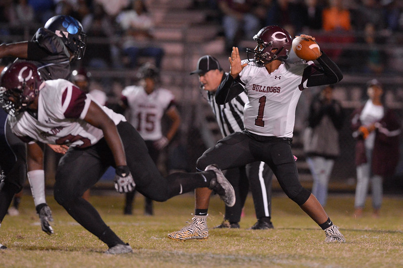Nash Central Travis Griffin (1) during tonight's game.Southwest Edgecombe defeats Nash Central 24-14, Friday evening October 13, 2017 (Photos by Anthony Barham / WRAL contributor.)