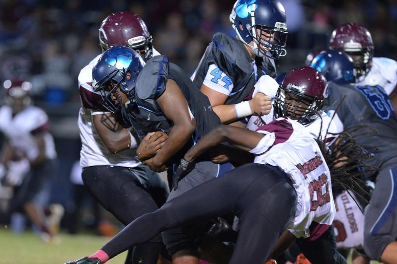 Southwest Edgecombe during tonight's game.Southwest Edgecombe defeats Nash Central 24-14, Friday evening October 13, 2017 (Photos by Anthony Barham / WRAL contributor.)