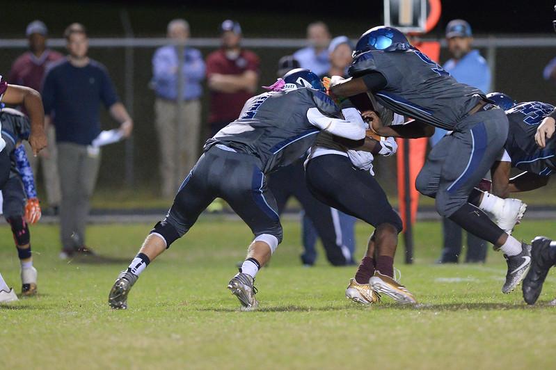 Southwest Edgecombe Jelan Smith (9) during tonight's game.Southwest Edgecombe defeats Nash Central 24-14, Friday evening October 13, 2017 (Photos by Anthony Barham / WRAL contributor.)
