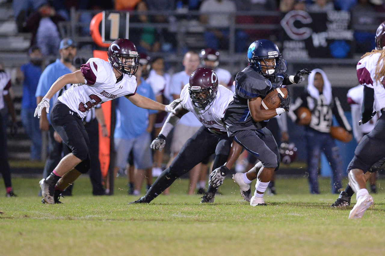 SouthWest Edgecombe during tonight's game.Southwest Edgecombe defeats Nash Central 24-14, Friday evening October 13, 2017 (Photos by Anthony Barham / WRAL contributor.)