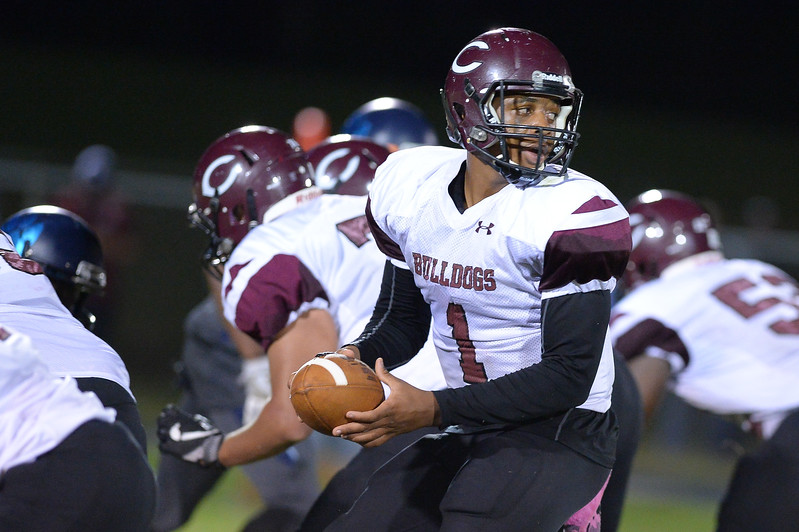 Nash Central Travis Griffin (1)during tonight's game.Southwest Edgecombe defeats Nash Central 24-14, Friday evening October 13, 2017 (Photos by Anthony Barham / WRAL contributor.)