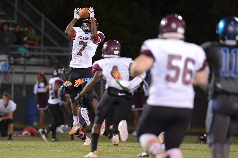 Nash Central Tarod Brown (7) during tonight's game.Southwest Edgecombe defeats Nash Central 24-14, Friday evening October 13, 2017 (Photos by Anthony Barham / WRAL contributor.)