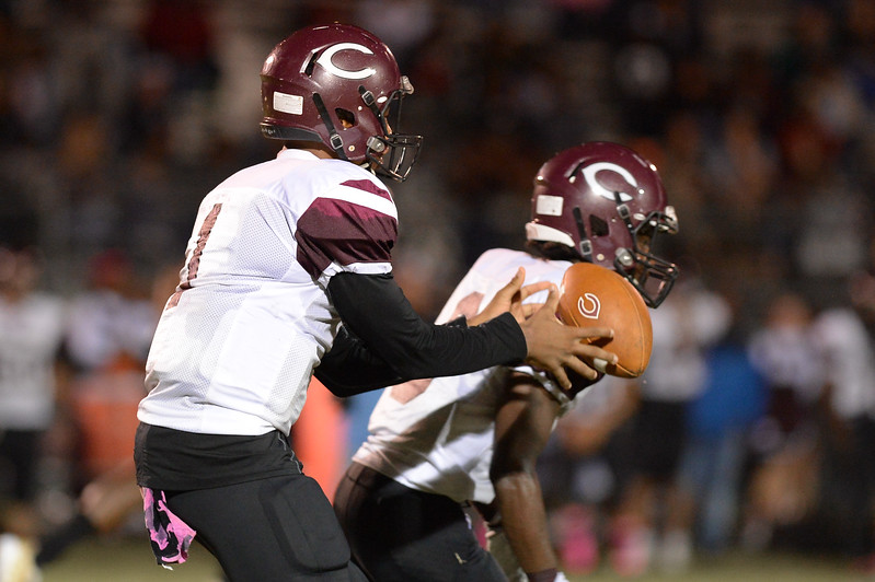 Nash CentralTravis Griffin (1) during tonight's game.Southwest Edgecombe defeats Nash Central 24-14, Friday evening October 13, 2017 (Photos by Anthony Barham / WRAL contributor.)