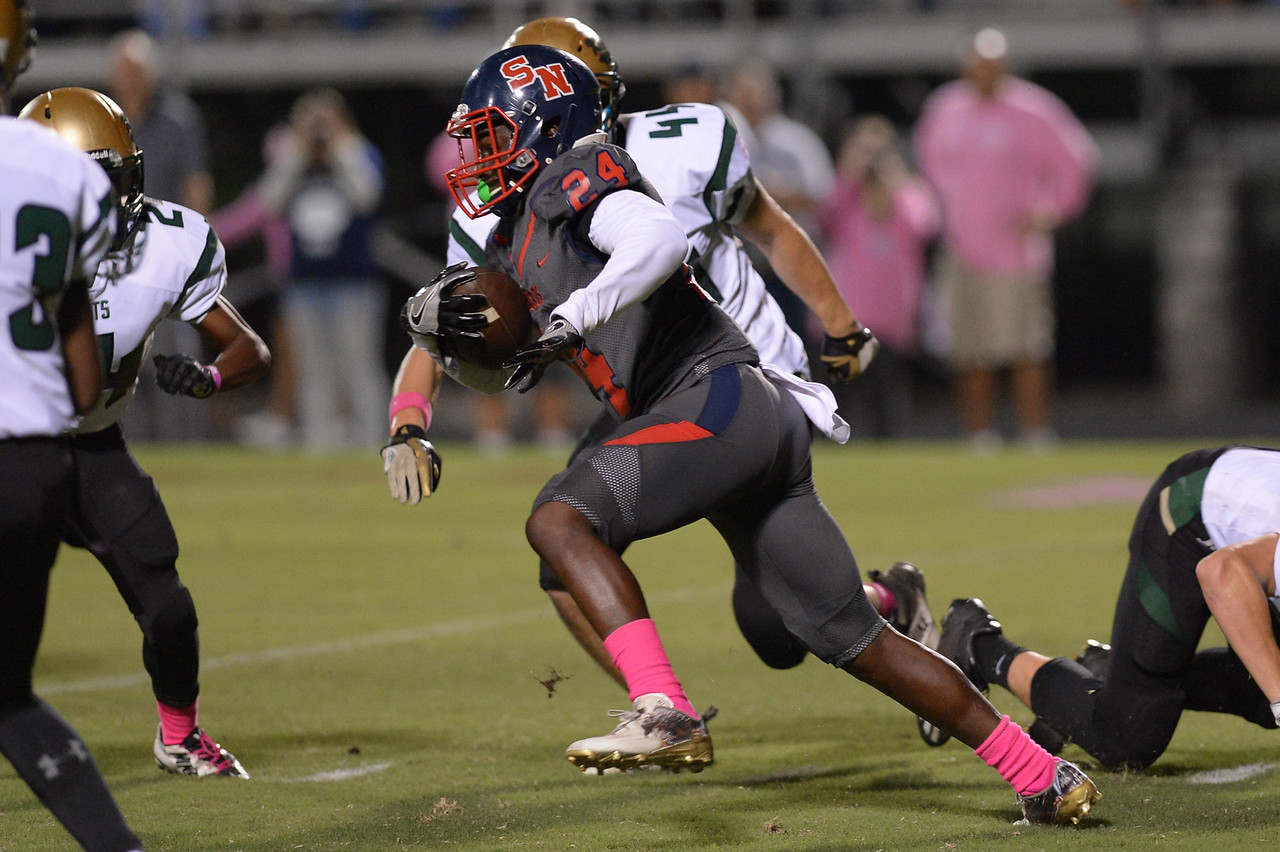 Southern Nash Quinton Cooley (24) during tonight's game.Southern Nash defeats Northern Nash 49-0 Friday evening October13, 2017 (Photos by Anthony Barham / WRAL contributor.)