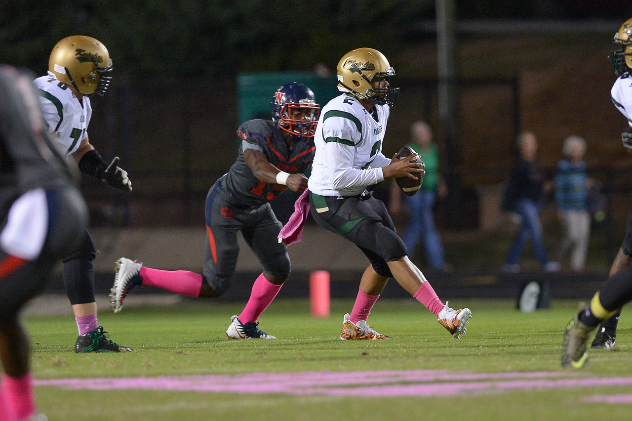 Northern Nash Davontae Wiggins (2) during tonight's game.Southern Nash defeats Northern Nash 49-0 Friday evening October13, 2017 (Photos by Anthony Barham / WRAL contributor.)