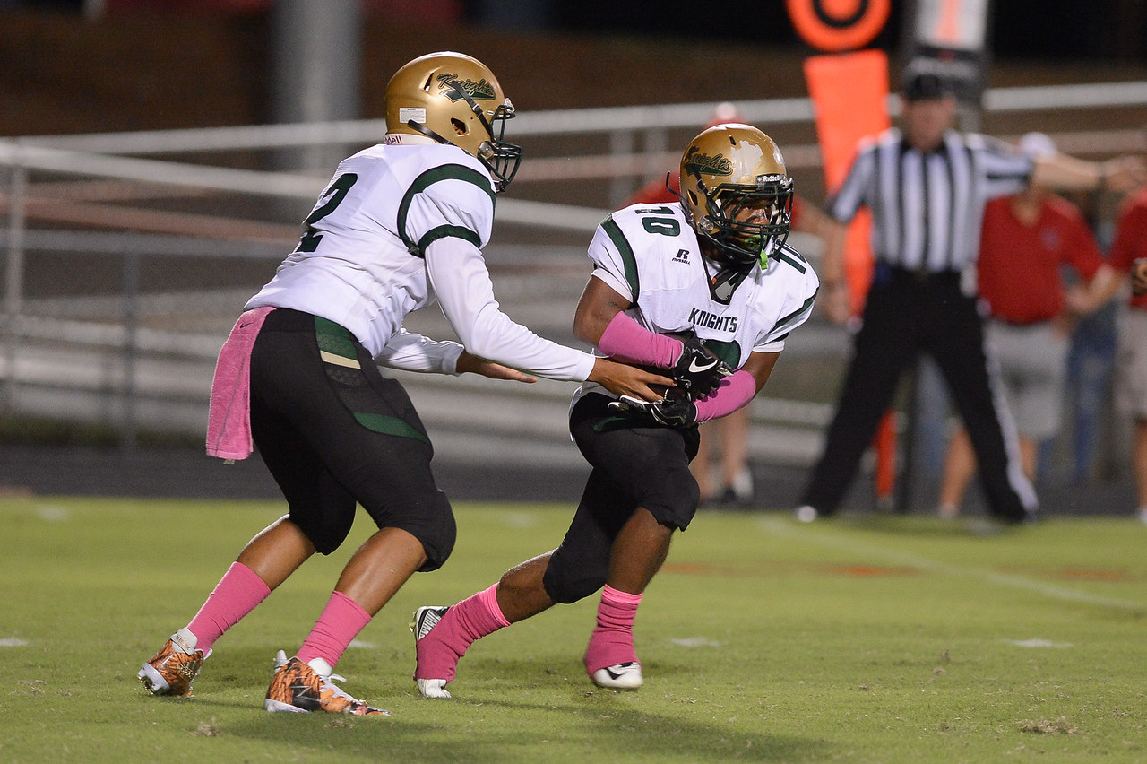 Northern Nash Davontae Wiggins (2) and Northern Nash Bryce Miles (10) during tonight's game.Southern Nash defeats Northern Nash 49-0 Friday evening October13, 2017 (Photos by Anthony Barham / WRAL contributor.)
