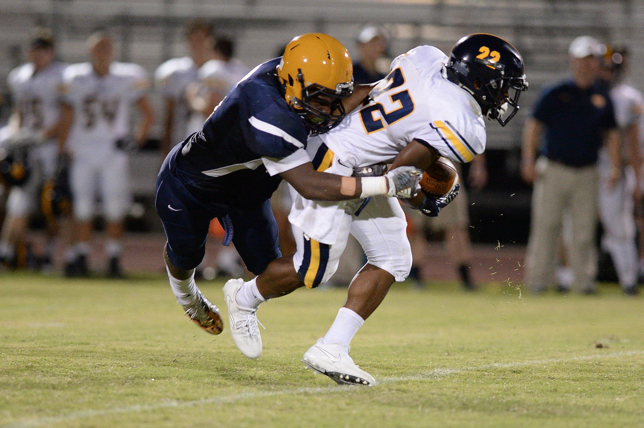 D.H. Conley Isaiah Gamble (22) during tonights game.D.H. Conley  defeats Rocky Mount 60-43, Friday evening August 25, 2017 in Rocky Mount , NC (Photos by Anthony Barham / WRAL contributor.)