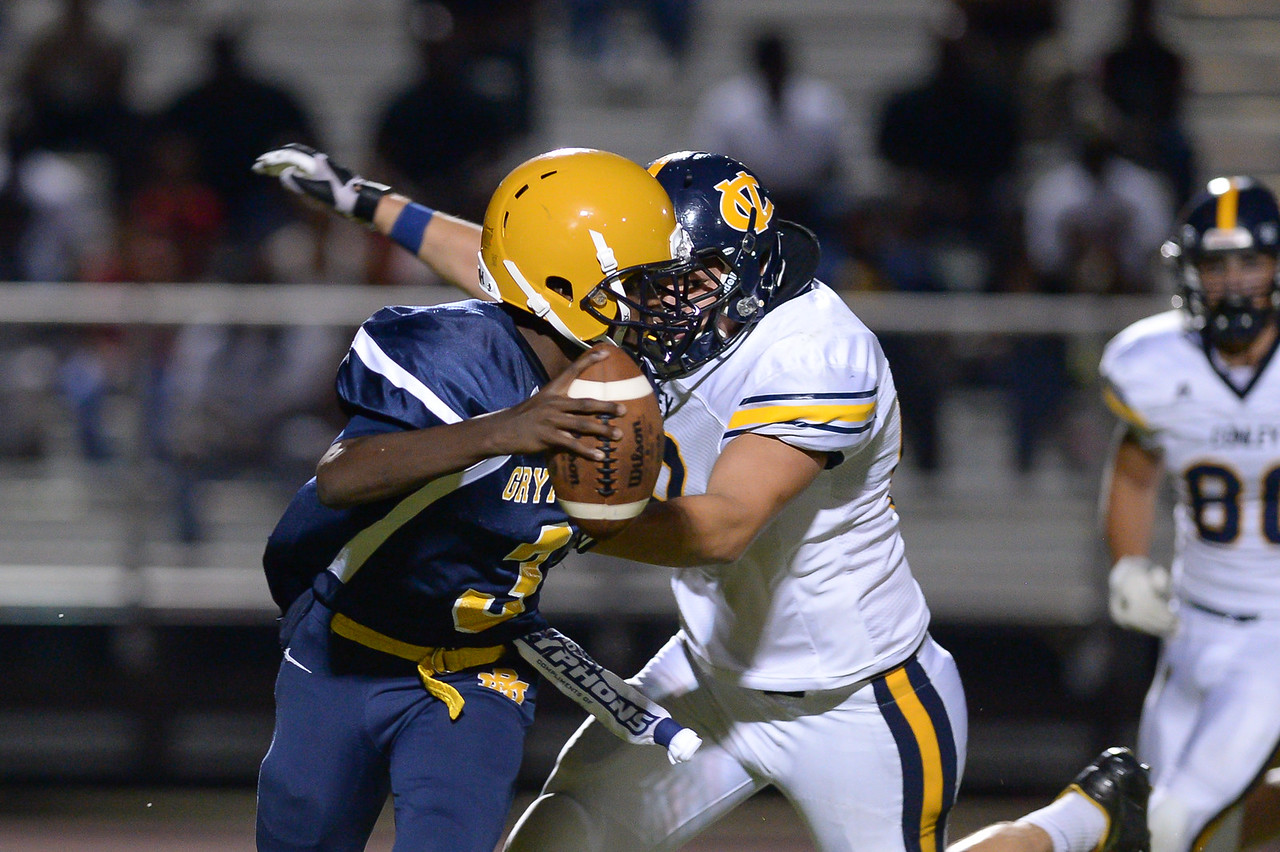Rocky Mount Jaquan Lynch (C) (3) during tonights game.D.H. Conley  defeats Rocky Mount 60-43, Friday evening August 25, 2017 in Rocky Mount , NC (Photos by Anthony Barham / WRAL contributor.)