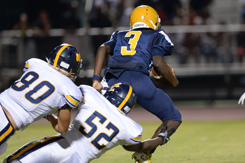 D.H. Conley Blake Mizelle (80) during tonights game.D.H. Conley  defeats Rocky Mount 60-43, Friday evening August 25, 2017 in Rocky Mount , NC (Photos by Anthony Barham / WRAL contributor.)