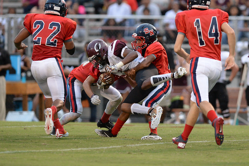 Southern Nash defeats Nash Central  48-7, Friday evening August 25, 2017 in Bailey Mount , NC (Photos by Anthony Barham / WRAL contributor.)