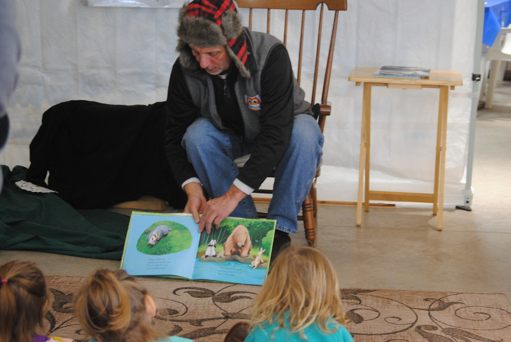 . Leah McDonald - Oneida Daily Dispatch Hibernation story time at the Winter Hibernation Festival at the Great Swamp Conservancy in Canastota, N.Y., on Saturday, Feb. 11, 2017.