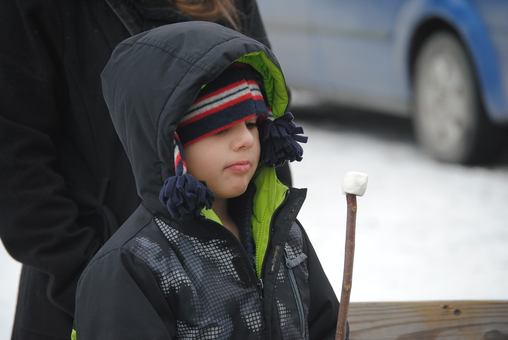 . Leah McDonald - Oneida Daily Dispatch Cecil McDonald, 6, roasts marshmallows at the Winter Hibernation Festival at the Great Swamp Conservancy in Canastota, N.Y., on Saturday, Feb. 11, 2017.