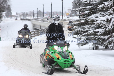 Snowmobiling in the North Woods