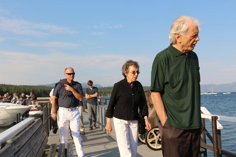 Lowell, Helen and Ken board the boat