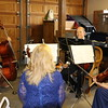 The quartet gets in some last minute practicing in the garage.  Didn't Tessa clean up nicely!?!?