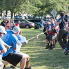 "170717 Tug Of War 2<br /> James Neiss/staff photographer <br /> City of Tonawanda, NY - The North Tonawanda team dug in and wins the Annual Canal Fest ""TUG OF WAR"" against Tonawanda in 25.1 seconds. Rich Andres was the first in line on the 15 man team."