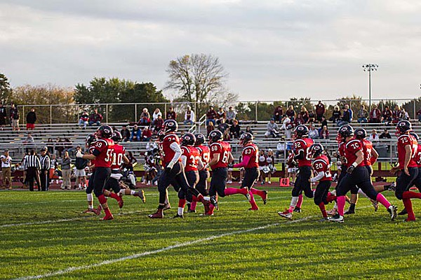 The scene from Friday night's T-NT game.