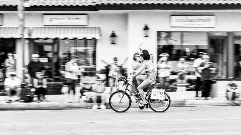 Oh this person was great in that he or she kept riding the bike in circles, making it easier for me to try and pan with them creating a blurred background.