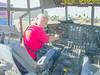 Bob in C130 Hercules cockpit mockup